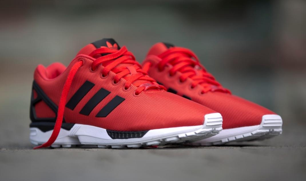 adidas zx flux roja y negra